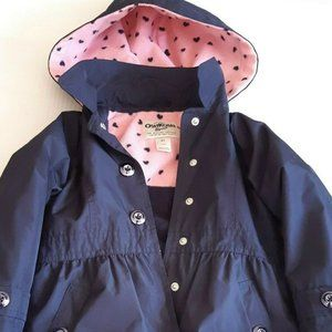 OshKosh Girl's 4T Fleece Lined Rain Coat Jacket